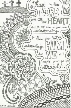 I Should Doodle Zen Style Around Some Bible Verses This Inspirational Zentangle Inspired Is Etsy