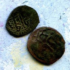 2 UNCLEANED coins from a digantique objects by CoolVintage on Etsy