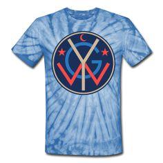 Blue Tie-Dye  Unisex Tie Dye T-Shirt  Classic-cut tie dye t-shirt for both men and women, 100% Cotton, $26.10