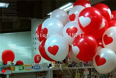 [Visit to Buy] Lucia Crafts 12pcs/lot 12'' Love heart pattern latex balloon Float air balls birthday party/wedding decoration 059003020 #Advertisement