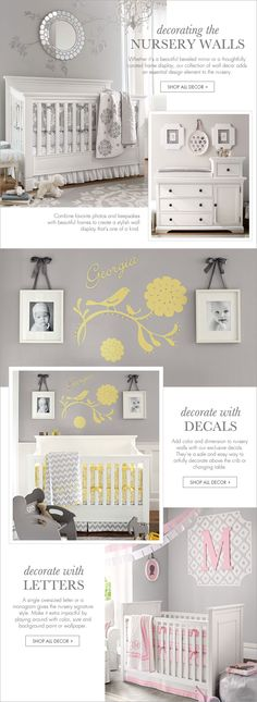 Decorating the Nursery Walls | Pottery Barn Kids