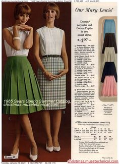 1965 Sears Spring Summer Catalog, Page 96 - Christmas Catalogs & Holiday Wishbooks 1960s Fashion Women, 60s And 70s Fashion, Fashion Now, Retro Fashion, Vintage Fashion, Womens Fashion, Gothic Fashion, 70s Outfits, Cosplay Outfits