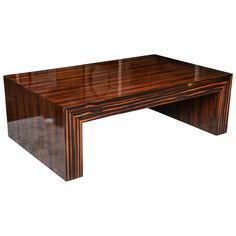 Solid Macassar Coffee Table | From a unique collection of antique and modern coffee and cocktail tables at https://www.1stdibs.com/furniture/tables/coffee-tables-cocktail-tables/