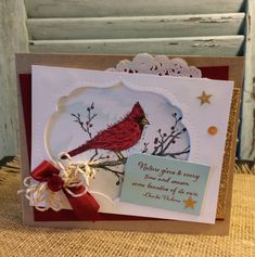 Robin Feicht featured this card on her blog today that makes quite an impact with its thoughtful attention to details.