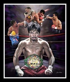 Pac Man: Manny Pacquiao by Wishum Gregory Manny Pacman, World Boxing Council, Philippine Houses, Manny Pacquiao, Pac Man, Filipino, Painting Art, New Art, Writers