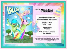 Lollos uitnodiging |Pinned from PinTo for iPad|