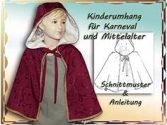 Nähanleitungen Kind - ebook Schnittmuster Mittelalter Umhang für Kinder - ein Designerstück von goa-dreams bei DaWanda