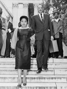 He was an African American legal giant. She was a Filipino American secretary…
