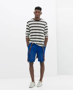 buy online 773eb d3a7c Image 1 of COTTON BERMUDA SHORTS WITH SUSPENDERS from Zara