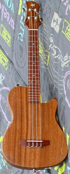 Mikhail Lyashenko solid electric Tenor Lardys Ukulele of the day 2017 --- https://www.pinterest.com/lardyfatboy/