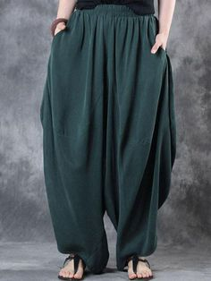 45d761684c374 Only US 23.99 shop women high elastic waist loose harem baggy pant at  Banggood.com