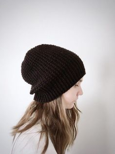 f194f0f719edfa Women's knit beanie hat for fall and winter in a simple textured design  that goes well