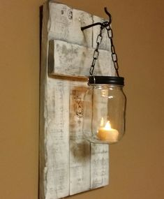 Rustic  distressed  Candle Holder Rustic  by TeesTransformations