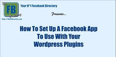 Free video: How To Create A Facebook App ID And Secret To Use With Your WordPress Plugins (2015)