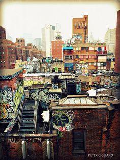 roof tops & graffiti