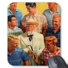 Kentucky colonel and sons mouse pad - vintage gifts retro ideas cyo