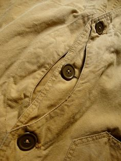 detail...1930'S HUNTING CANVAS VEST