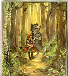 Little Red Riding Hood Wolf | ... Little Red Riding Hood.One day her mother told her to go say thank you