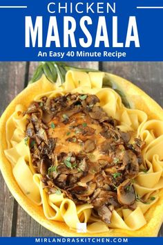 Don't let Chicken Marsala intimidate you! This is a easy and great recipe for Chicken Marsala with tender chicken in a silky wine sauce full of mushrooms and shallots. This is a 40 minute feast anybody can make! #chickenn #winesauce #mushrooms #simple Pasta Recipes, Chicken Recipes, Dinner Recipes, Cooking Recipes, Dinner Ideas, Skillet Recipes, Chicken Meals, Holiday Recipes, Chicken Marsala