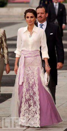 The fashionable Queen Rania of Jordan
