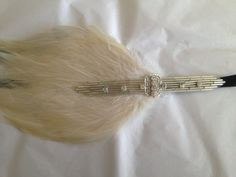 IVORY Feather or Black Feather Gatsby Feather by GothamCityStyle