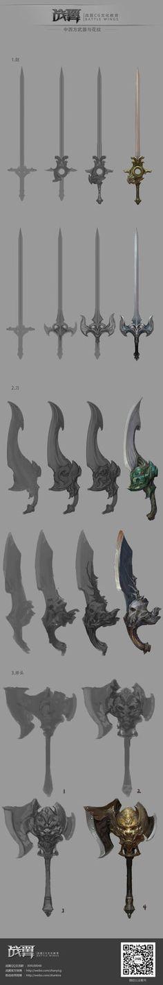 深圳战翼CG文化每周一课《中西方武器》过程-陈战, chen zhan on ArtStation at http://www.artstation.com/artwork/cg-6a5d8fd6-e66c-499c-bca2-50d7cccc1bb5