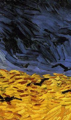 Wheatfield with Crows, Van Gogh. (detail of brushwork)
