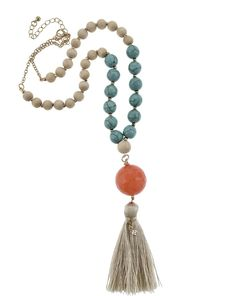 Fringe Beaded Necklace - Necklaces - Jewelry - Accessories
