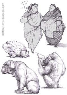 карандашные зарисовки силуэтов людей и животных. Обсуждение на LiveInternet - Российский Сервис Онлайн-Дневников