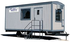 Dream office trailer on pinterest tiny house trailers for Mobile office trailer with bathroom