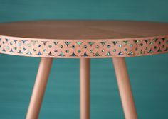 The Paua table | Bethan Gray bases brass-patterned furniture on the architecture of Oman