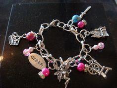 Sleeping Beauty Themed Charm Bracelet - The Supermums Craft Fair
