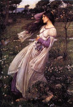 "John William Waterhouse - ""Windflowers"""