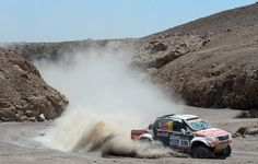 Adam Malysz and co-pilot Rafal Marton of team Toyota compete in stage 5 from Arequipa to Arica during the 2013 Dakar Rally on January 9, 2013 in Arequipa, Peru.