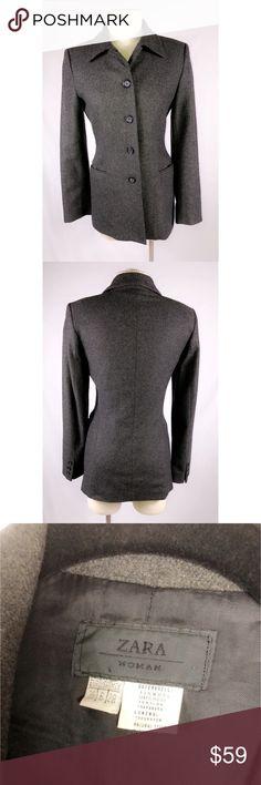🔥SALE🔥 ZARA WOOL JACKET 🔥🔥🔥 Zara Wool Jacket Women Size 6. Zara Jackets & Coats
