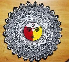 Doodle Art Drawing, Dark Art Drawings, Mandala Drawing, Art Drawings Sketches Simple, Mandala Art Therapy, Mandala Art Lesson, Mandala Artwork, Madhubani Art, Madhubani Painting