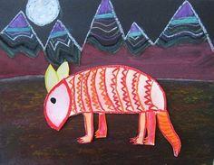 Armadillo Ray- cute elementary art lesson
