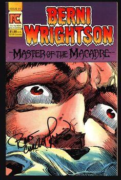 SIGNED BERNI WRIGHTSON Master of Macabre #1 Pacific Comics Illustrated Horror Fantasy Illustration Mature Comics Art
