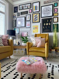 Mustard Living Rooms, Room Inspiration, Home Living Room, Apartment Decor, Couches Living Room, Interior, Colourful Living Room Decor, Teal Living Rooms, Living Room Grey