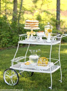 summer citrus tea party idea...
