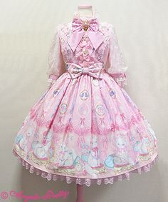 Dolly Cat OP in Pink by Angelic Pretty. I have no preference between Pink, Sax, and Lavender colours. I only want this cut.