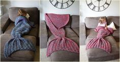 Beautiful Crocheted Mermaid Tails