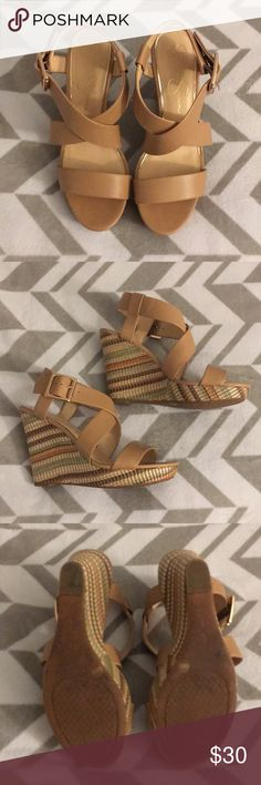Jessica Simpson Wedge Sandals So cute for the summer. Add these JS wedge sandals to your wardrobe. They can be worn dressed up or casual. Either way, you'll look great and be comfy. Jessica Simpson Shoes Wedges
