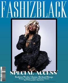 """Couverture du prochain FASHIZBLACK (Avril-Mai 2013), """"Special Access' """".   ___  FASHIZBLACK Magazine cover, April-May 2013."""