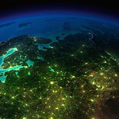 Norte de Europa. Planeta Tierra
