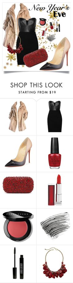 """""""New year's eve"""" by lialondon ❤ liked on Polyvore featuring Mason by Michelle Mason, Christian Louboutin, OPI, Alice + Olivia, Maybelline, Bobbi Brown Cosmetics and Lord & Berry"""