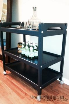 the modern bar cart | The Salvaged Boutique