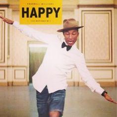 Happy! Pharrell sports his watch while happily dancing! #MARTESMUSICAL Cada martes en nuestro facebook: https://www.facebook.com/Titabonitadesigns#