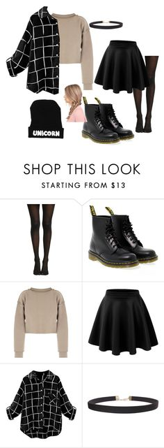 """""""GRRRRRRRRundge"""" by summer-anderson-i on Polyvore featuring Dr. Martens, My Mum Made It, LE3NO and Humble Chic"""