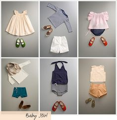 A baby girl wardrobe just full of outfits to make your heart melt - and they are not all pink and frilly!